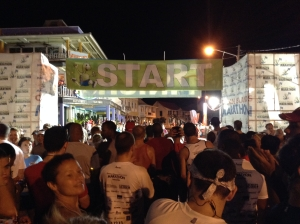 View to the start line at 4:55am.