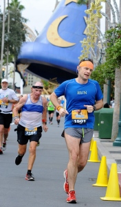 Decrepit-looking old guy behind me beat me by a minute and a half.