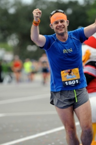 Leaving a sore-palmed Donald Duck in my wake at the finish line.