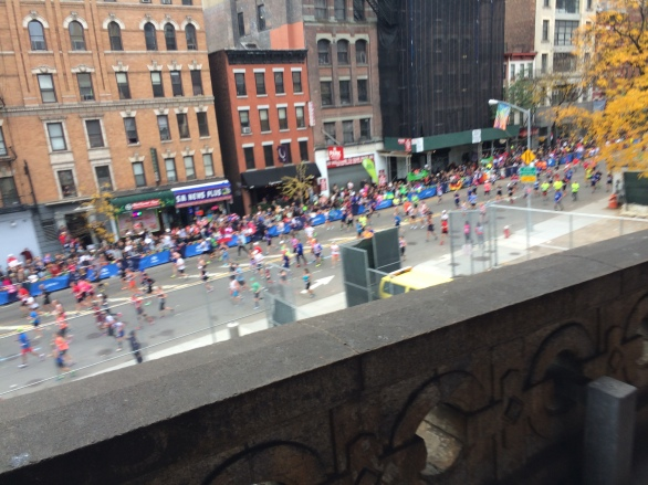 Looking down at 1st Avenue Manhattan as we neared the end of the 59th Street Bridge